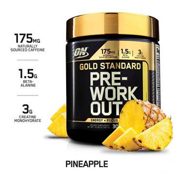 85.58元美国直邮!Optimum Nutrition 欧普特蒙 金牌氮泵 菠萝味 练前配方300g