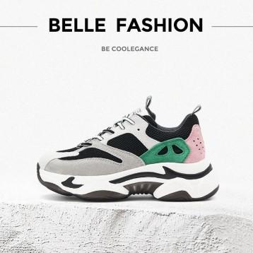 549元包邮!BELLE/百丽 2020春新商场同款 小虎牙猪巴戈 老爹鞋