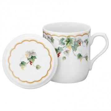 NARUMI 鸣海 骨瓷带盖茶杯290m 亚马逊海外购