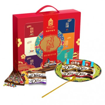 162元拍2盒!德芙 Dove✖️故宫联名【宫送六福】巧克力新年礼盒368g