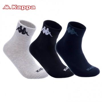 49.8元拍2件包邮!Kappa 背靠背 男士秋冬篮球袜运动棉袜3双组