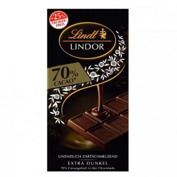 Lindt 瑞士蓮 70%可可 Lindor軟心小塊裝特濃黑巧克力100g*10排