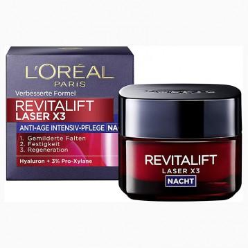L'Oreal Paris 欧莱雅 Revitalift laser x3 复颜光学嫩肤弹力抚痕晚霜 50ml  亚马逊海外购