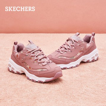 Skechers 斯凯奇 D'LITES系列 厚底复古刺绣老爹鞋 13082 2色