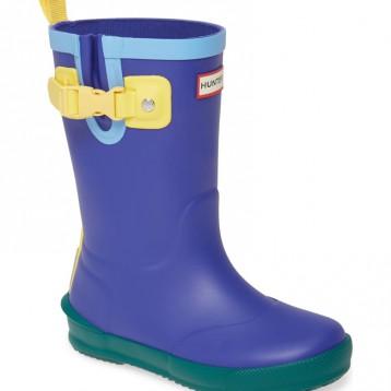 8M、146cm有貨~HUNTER Davison 童款拼色雨靴 4折好價,225.24元