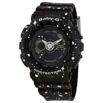 Casio 卡西歐 Baby-G 系列 黑色女士運動腕表 BA-110ST-1ADR 4.9折+免官網運費