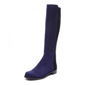 新低!补货,Stuart Weitzman 女士5050低跟短款筒靴 深蓝色