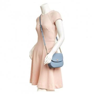 MICHAEL KORS 迈克高仕 Mott系列 女士翻盖单肩斜挎包 浅蓝色