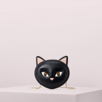 kate spade 凯特丝蓓官网 meow cat crossbody 猫猫头斜挎包 特价$238(¥1915.9)