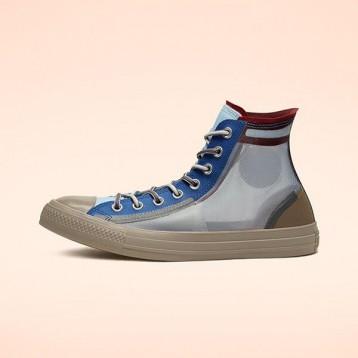 Converse 匡威 All Star 藍色半透明高幫鞋 特價$54.97(¥442.51)