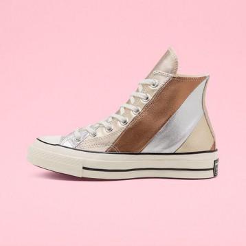 Chuck 70 Metallic彩虹條紋帆布鞋 特價$49.97(¥402.26)