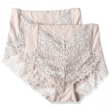 ATSUGI 厚木  3D無勒痕高腰蕾絲性感內褲 2條裝 亞馬遜海外購