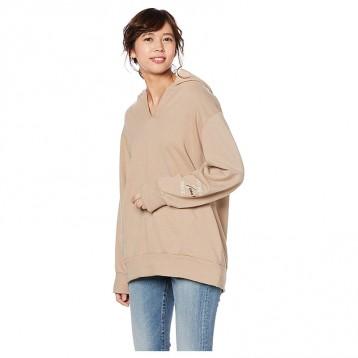 新低:SNIDEL SWCT194114 休闲刺绣纯色全棉连帽口袋长袖卫衣 亚马逊海外购