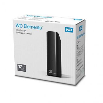 Western Digital 西部數據 Elements 移動硬盤 12TB