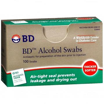 BD Alcohol Swabs 一次性多用途酒精消毒棉片 100片 $2.79(¥22.46)