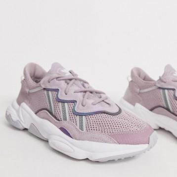 adidas Originals Ozweego 粉紫色女士老爹鞋 特价£54(¥567.54)