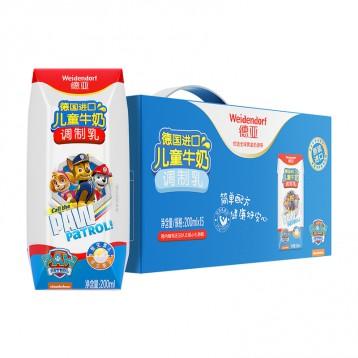 170.40元拍2箱包邮!德国进口牛奶 德亚Weidendorf 儿童纯牛奶200ml*24盒
