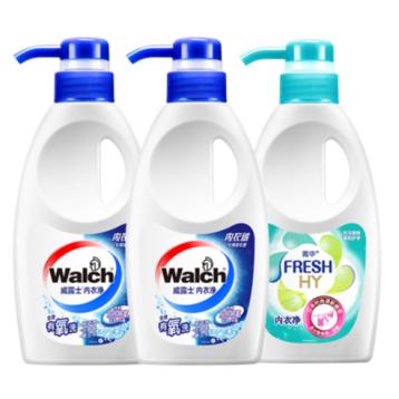 Walch 威露士 内衣净 内衣裤专用洗衣液 300g*3瓶 19.9元包邮(需领券)