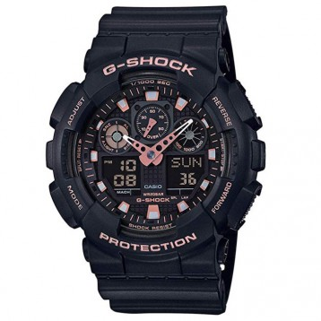 Casio 卡西欧 G-Shock系列 GA-100GBX 男士亮金双显运动手表496.46元