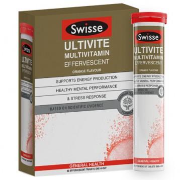 128元包邮!澳洲进口 Swisse Ultivite复合维生素泡腾片 60片/盒