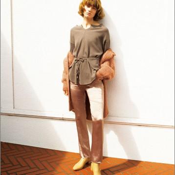 SNIDEL SWCT195092 女士正反兩穿針織衫  亞馬遜海外購 ?