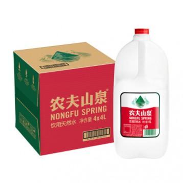 適合湊單,農夫山泉 天然飲用水4L*4瓶