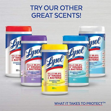 畅销高好评,Lysol 来沙尔 消毒湿巾 80片