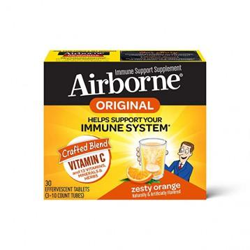 增强免疫力,Schiff 旭福 Airborne 橙味维生素C泡腾片30粒