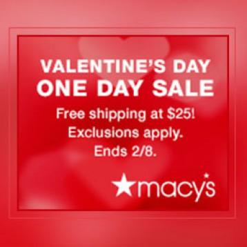 【购物清单】美国Macy's梅西百货 情人节One day sale限时特惠