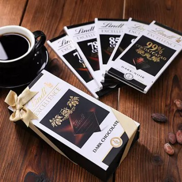 Lindt 瑞士莲 85%可可 特级黑巧克力100g*20排