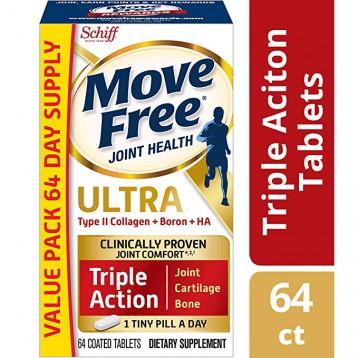 限时106.16元美国直邮!Schiff Move Free II型胶原蛋白维骨力64粒