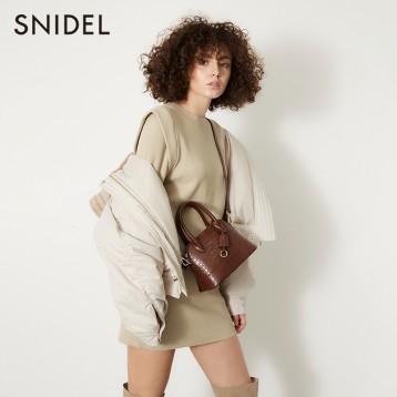 SNIDEL 氣質純色飛袖羅紋針織包臀連衣裙 SWNO195052