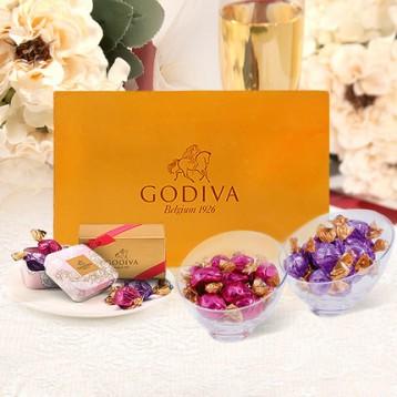 顺丰包邮,GODIVA 歌帝梵 欢享 松露形巧克力礼盒 40颗 410g