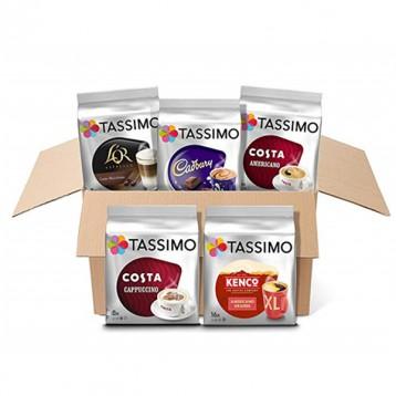 销量第一,Tassimo Variety 什锦胶囊咖啡组合 5袋(共56个)