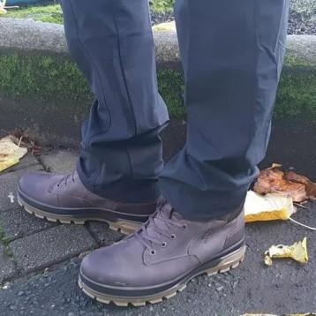 ECCO 爱步 Rugged Track工装踪迹 男士高帮Hydromax?防泼水登山鞋838074