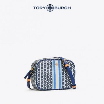 TORY BURCH 汤丽柏琦 GEMINI LINK 女士迷你帆布斜挎包相机包 57743