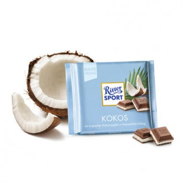 Ritter Sport 瑞特斯波 椰子夹心巧克力 100g 6.7折+满568.1元免邮