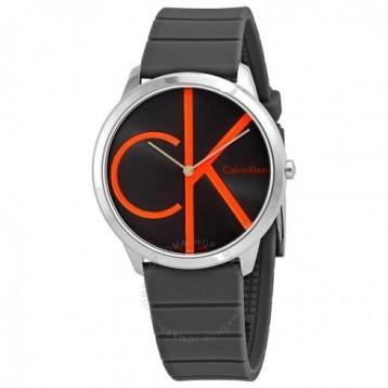 Calvin Klein Minimal Black Dial 男款 Rubber Watch 2折+免官网运费