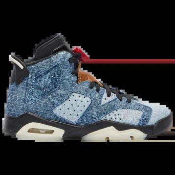 Air Jordan 乔丹 Retro 6 大童款篮球鞋 水洗丹宁 特价$109.99(¥885.42)