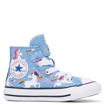 Converse 匡威 All Star 藍色獨角獸高幫鞋 特價£19.99(¥210.09)