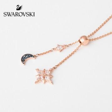 Swarovski施华洛世奇 璀璨星月 SWA SYMBOL女士Y 形镀金项链 亚马逊海外购