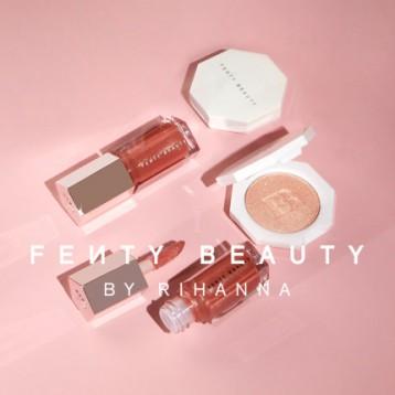 蕾哈娜个人彩妆品牌,FENTY BEAUTY 炸弹宝贝3D流光迷你唇釉粉饼组合( 2.2g+5.5ml)