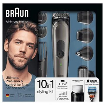 410.75元德国直邮!Braun 博朗 MGK 7021 10合1 多功能剃须刀和理发器