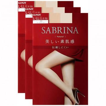 84.06元日本直郵!GUNZE 郡是 Sabrina Natural 絲襪連褲襪3雙裝