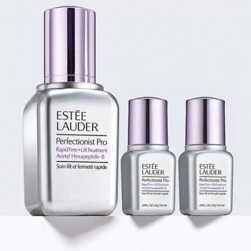 上新价$78美金!Estée Lauder线雕小银瓶套装 (线雕银瓶30ml+7ml*2瓶=价值$115)