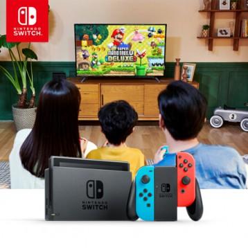 国行版,Nintendo 任天堂 Switch 游戏家庭主机 续航升级版 200G TF卡+包套装