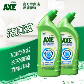 19.90元包邮!除菌率99.9%不刺鼻:香港 AXE斧头牌 晶怡 马桶清洁厕灵500gx2瓶
