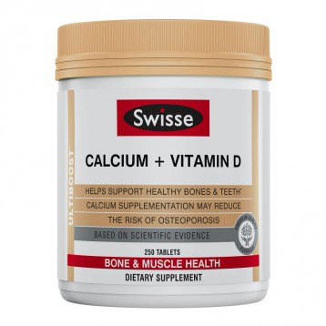 SWISSE Ultiboost 钙+维生素D钙片 250片 亚马逊海外购