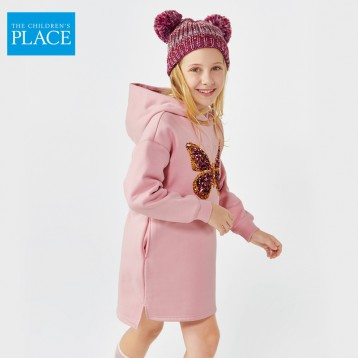 69元包邮!绮童堡 The Children's Place 女童加绒卫衣短裙(110-160cm)