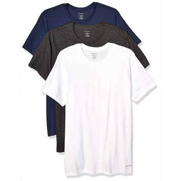 184.69元美国直邮!Calvin Klein 卡尔文·克莱恩 男式 棉质经典圆领T恤3件装